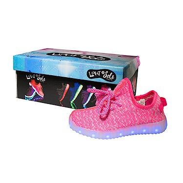 Light and Sole LED Pink Shoes - Size 2