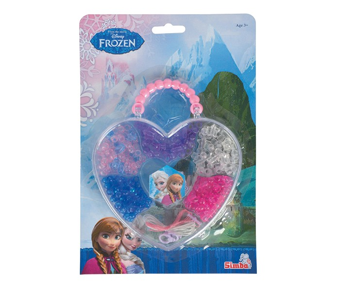 Disney Frozen Color Beads Set with Heart Shape Storage