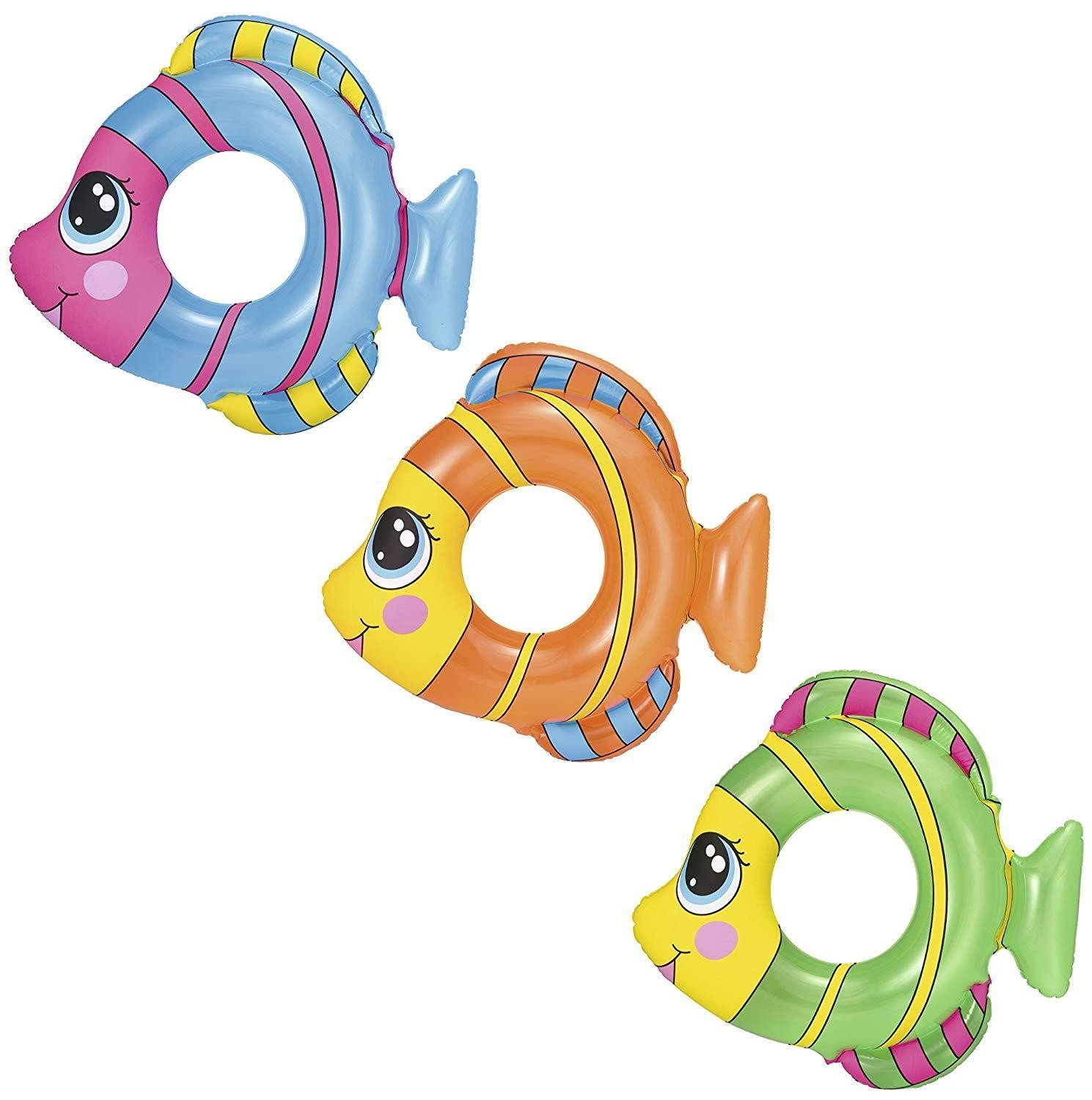 Inflatable Friendly Fish Swim Rings 81cm x 76cm