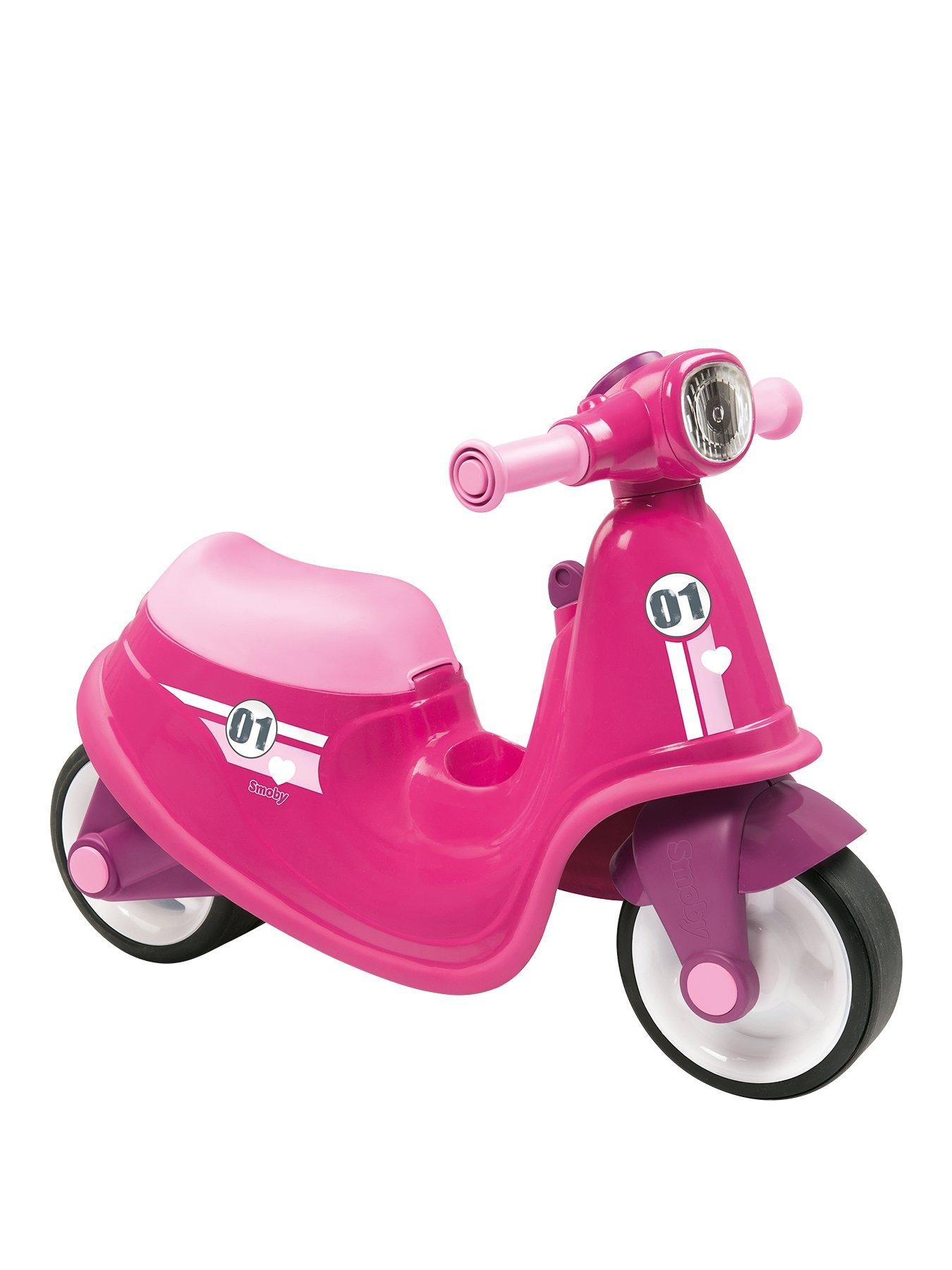 Smoby - Ride-On Pink Scooter