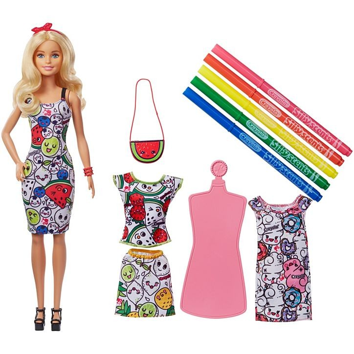 Barbie - Crayola Color-In Fashions Doll