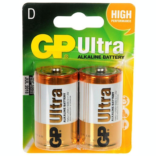 GP Ultra - 2 x D Batteries