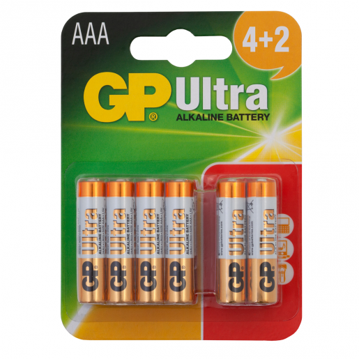 GP Ultra 4+2 x AAA Batteries