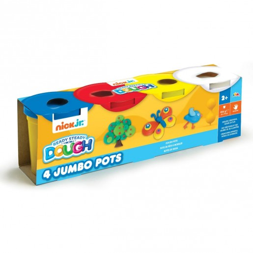 Nick Jr. Ready Steady Dough 4 Jumbo Pots (Styles Vary)