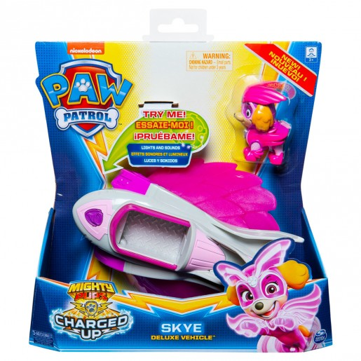 Paw Patrol Mighty Pups Charged Up Deluxe Vehicle - Skye