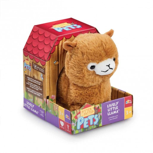 Pitter Patter Pets Lively Little Llama - Light Brown