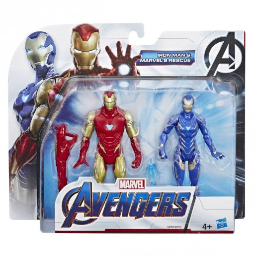 Marvel Action Figures - Iron Man and Marvel's Rescue