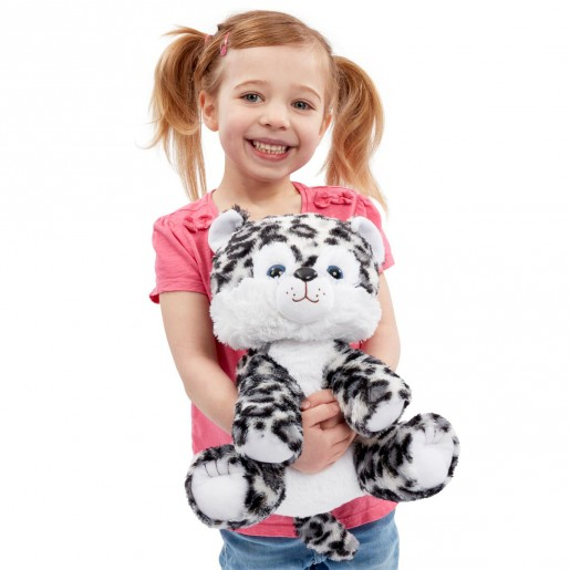 Snuggle Buddies 33cm Endangered Animals Plush Toy - Snow Leopard