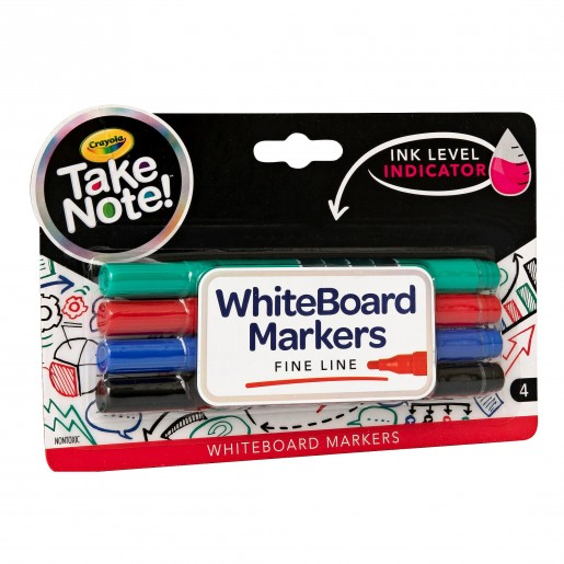 Crayola Take Note 4ct Whiteboard Markers