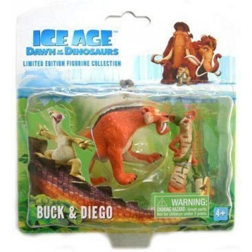 Ice Age 3 Dawn of The Dinosaurs - Buck & Diego Figure Set