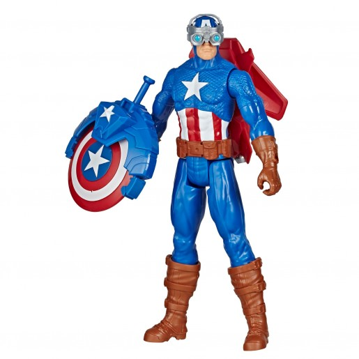 Marvel Avengers Titan Hero Series Blast Gear Captain America, With Launcher