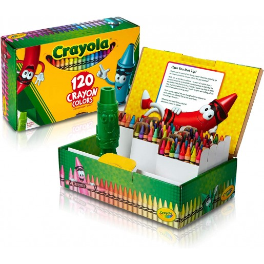 Crayola 120 units original crayons, Questions - by email, Various