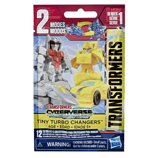 Transformers Toys Cyberverse Tiny Turbo Changer Series 2 Bling Bag Action Figures